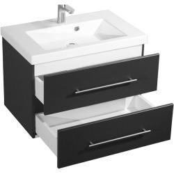Waschtisch Mit Unterschrank 70 Cm Waschbecken Schubladen Anthrazit In 2020