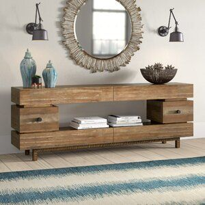 Lipscomb Solid Coffee Table With Storage In 2020 Reclaimed Wood Console Table Console Table Iron Console Table