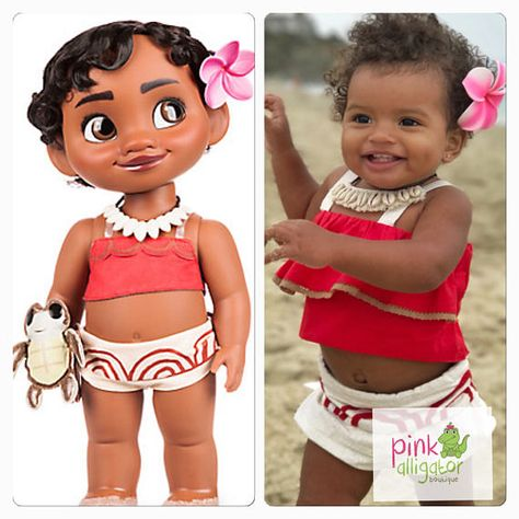 The Cutest Baby Toddler Moana Costume Outfit Dress Up  6m to 4T