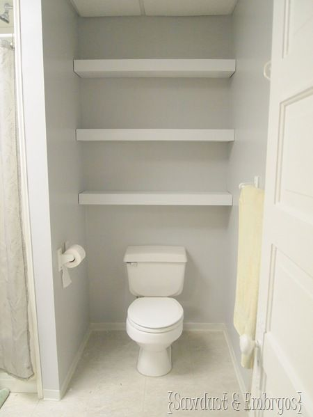 Building A Floating Shelf In Your Toilet Cove | Toilet, Shelves And  Downstairs Loo