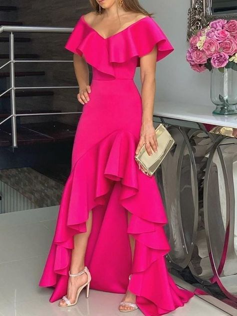 Unique Prom Dresses, hot pink fashion prom dress, There are long prom gowns and knee-length 2020 prom dresses in this collection that create an elegant and glamorous look