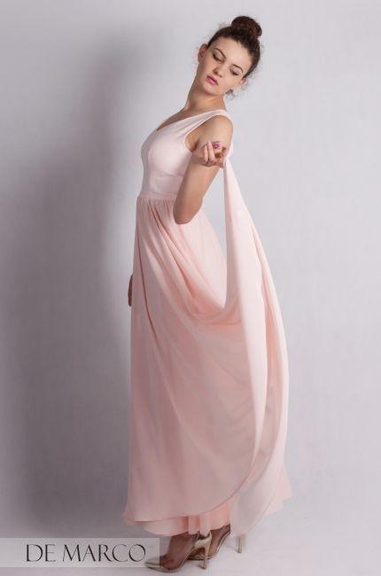 Sliczna Zwiewna Sukienka Na Wesele Szyta Na Miare W De Marco Sliczna Dluga Sukienka Na Bal Dla Swiadkowej Lub Druhny Elegancka I St Style Maxi Demarco