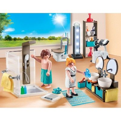 Playmobil Bathroom In 2020 Playmobil Shower Cabin Biking Workout
