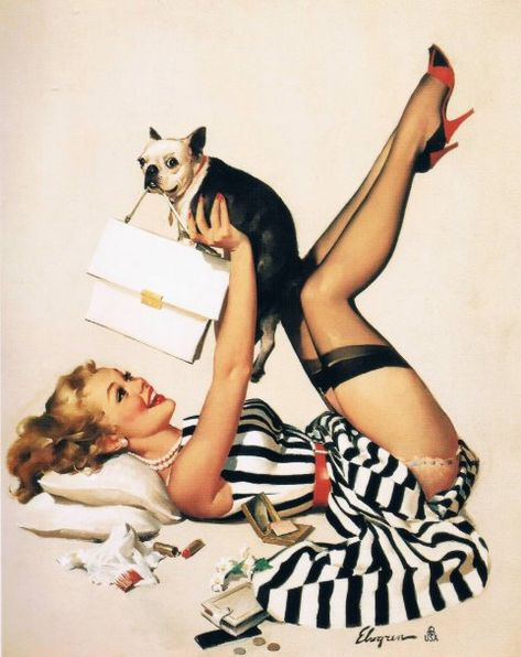 Puppy Lover Pin-up Girl - Retro Pinup Art Poster zazzle Estilo Pin Up Retro, Retro Pin Up, 50s Pin Up, Pin Up Girl Tattoo, Pin Up Tattoos, 1950 Pinup, Modelos Pin Up, Pin Up Pictures, Retro Pictures