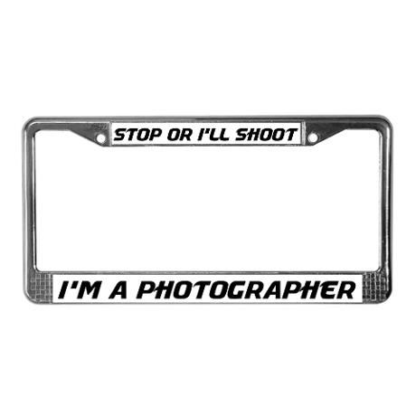 Funny Photographer License Plate Frame | Bugs | Pinterest