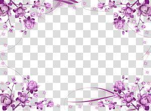 Pink Flower Decor Illustration Borders And Frames Frames Flower Purple Flower Border Transparent Background Flower Border Flower Border Png Flower Frame Png
