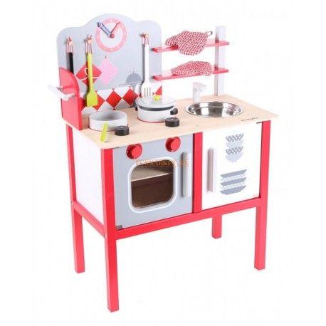 Drewniana Kuchnia Dla Dzieci Kuchenka Z Akcesoriami Decor Toy Sets Eco Toys