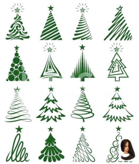 Drawing Ideas Easy Cute Verschiedene Weihnachtsbaumsammlung Various Christmas Tree Collection Ch Dessin Sapin De Noel Dessin Cadeau Deco Fenetre Noel
