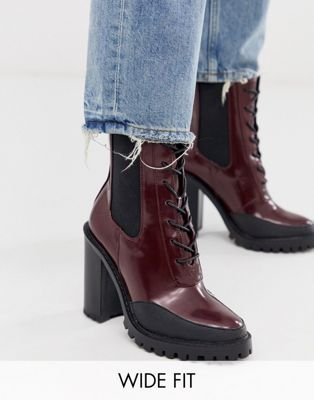 Lace up boots, Wide fit shoes