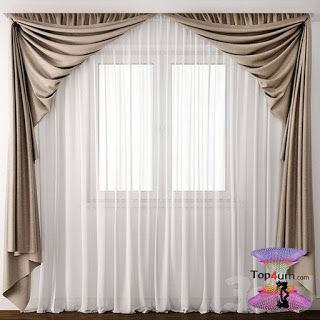 احدث كتالوج صور ستائر صالونات بتصميمات مودرن وكلاسيك 2020 Curtain Decor Home Curtains Curtain Styles