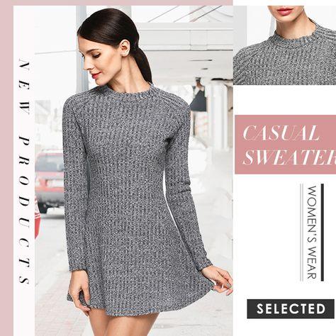 Daily Ritual Womens 100/% Cotton Boxy Crewneck Sweater
