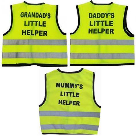 Daddy/'s Little Helper Hi Vis Kids School Safety Vest Childrens Waistcoat Gift