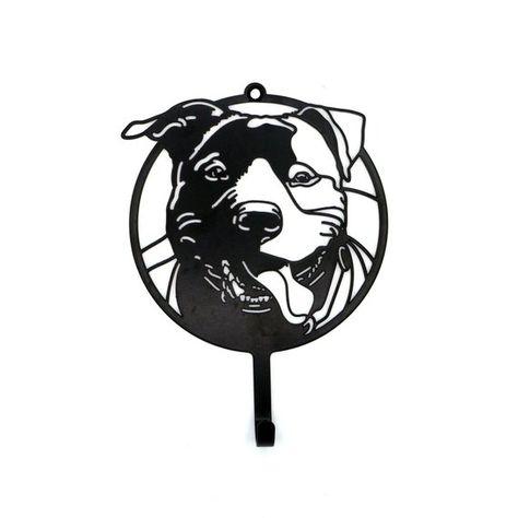 Dog Leash Hanger Staffordshire Bull Terrier T Key Hook Hand