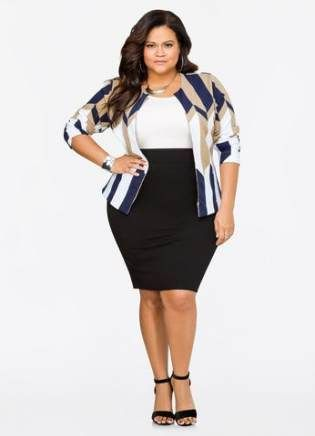 54+ Ideas for skirt pencil plus size work outfits #skirt in ...
