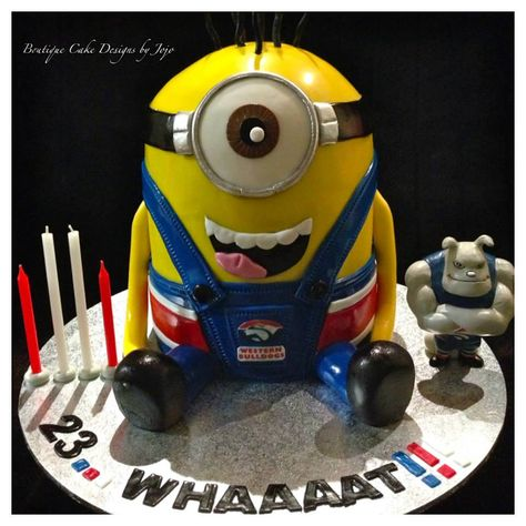 Minion Cake by Boutique Cake Designs by Jo Jo Couture Party Styling and Hiring, Hampton Park, Victoria, Australia.