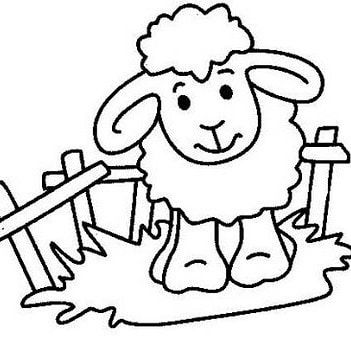 Pin By Marwa Abdel On Festive Coloring Pages Sheep Crafts Sheep