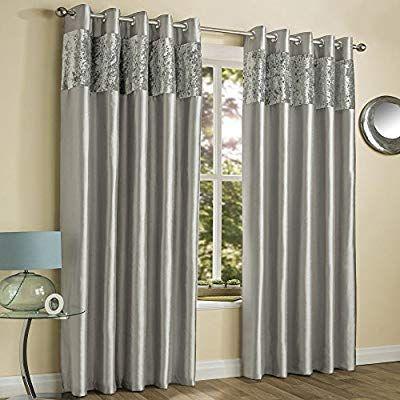 Tony S Textiles Crushed Velvet Faux Silk Silver Grey Pair Of Amalfi Fully Lined Eyelet R Curtains Crushed Velvet Blue Curtains Living Room Grey Velvet Curtains