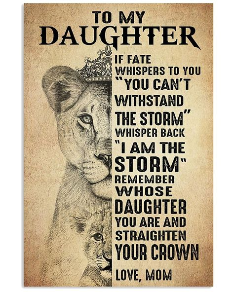 To my daughter. if fate whspers to you you can't withstand | Etsy