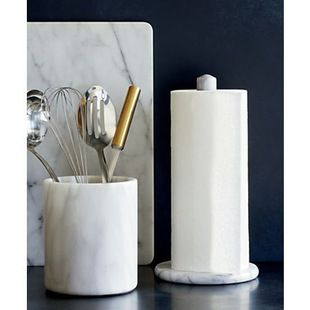 French Kitchen Marble Paper Towel Holder Reviews Crate And Barrel In 2020 Marble Utensil Holder Kitchen Marble French Kitchen