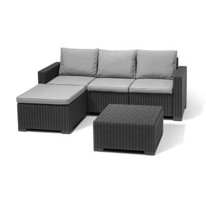 Allibert California Chaise Loungeset In 2020 Outdoor Sectional Sectional Sofa Furniture