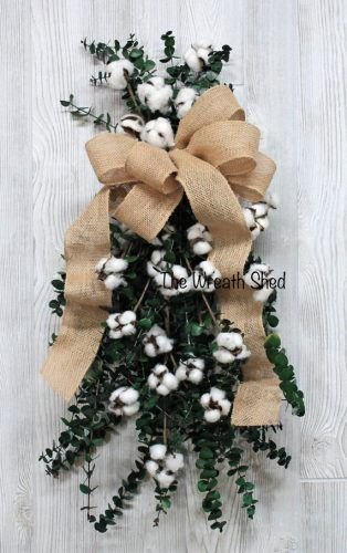 Dried Cotton Preserved Eucalyptus Cotton Wedding Decor Dried Wreath Cotton Anniversary Gifts