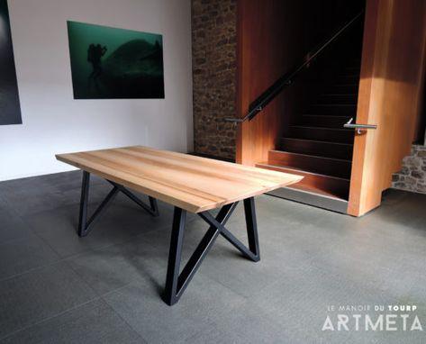 Artmeta Table Gentleman En Acier Et Bois Massif Fabrication