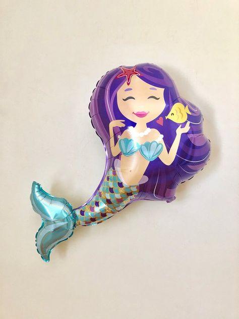 Mermaid Balloon~Under The Sea Party~Mermaid Party~Mermaid Birthday~Lets Be Mermaids~Mermaid Decor~Mermaid Party Decor~Mermaid First Birthday