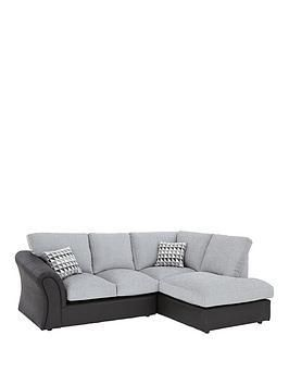 Linear Corner Sofa Smoke Grey Left And Right Hand Chaise Sofa Chaise Corner Sofa