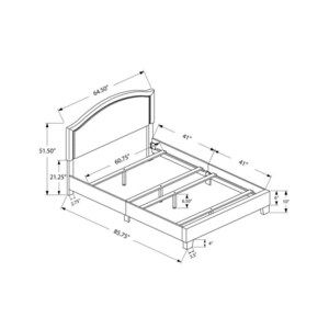 Monarch Specialties Grey Queen Bed Frame At Lowes Com In 2020