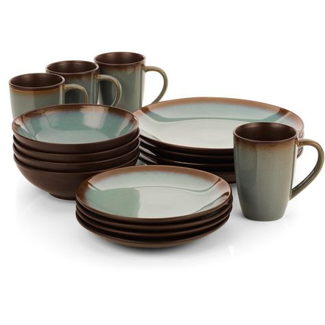 dishware sets   Hometrends Lagoon 16-Piece Dinnerware Set ...
