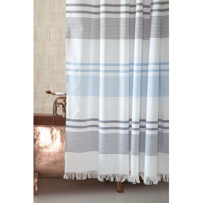 Highland Dunes Zepeda 100 Cotton Single Shower Curtain Colour Blue Blue Shower Curtains Furniture For Small Spaces Colorful Curtains