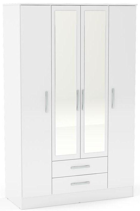 Beauty Scouts Kleiderschrank Baseline In Alpinweiss Chrom Absatze Mirrored Wardrobe Bedroom Furniture Design White Gloss Bedroom Furniture