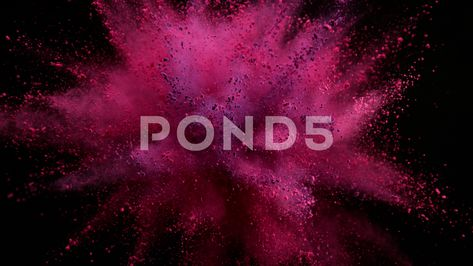 Super slow motion of coloured powder explosion isolated on black background. Stock Footage #AD ,#coloured#powder#motion#Super