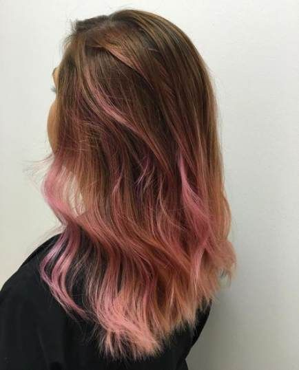 33 Ideas For Hair Ombre Pink Pastel Brown Pink Ombre Hair Brown And Pink Hair Light Brown Hair