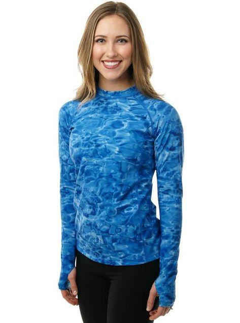 849d7e2400 Long Sleeve Rash Vest with Thumb Holes - $25US ** Women's Long Sleeve UPF 50+  Sun Protection Rash Guard Surf Shirt Royal