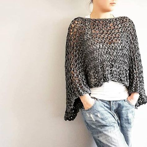 Knitting Pattern for Go-With-The-Flow Jersey Easy knit   Etsy