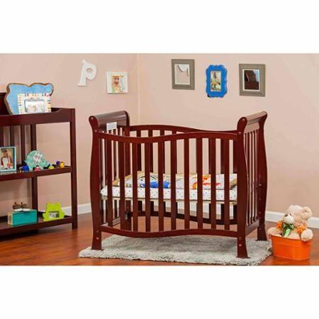 Dream On Me Piper 4 In 1 Convertible Mini Crib Cherry Walmart Com Mini Crib Cribs Best Crib