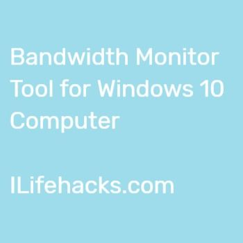 Free Bandwidth Monitor For Windows 10 With Images Windows Monitor Windows 10