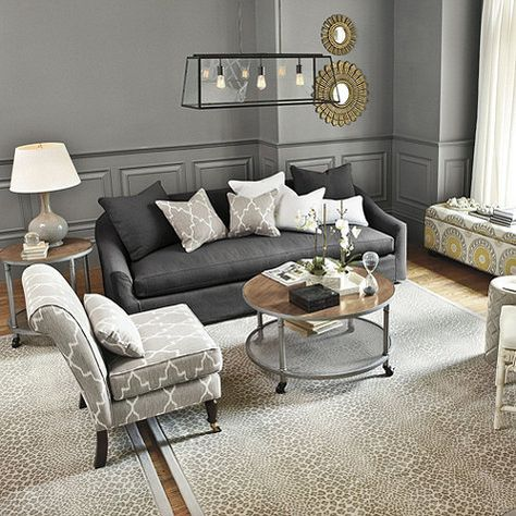 Exceptional Room From Ballard Designs    Charcoal Sofa With Upholstered Accent Chair  And Animal Print Rug. LOVE! | Home Ideas! | Pinterest | Animal Print Rug,  Charcoal ... Part 32