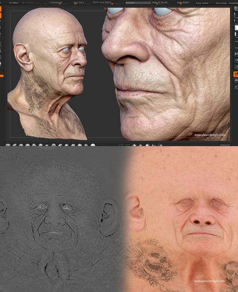 Making of a real-time portrait in 2019 | zbrush | Texture