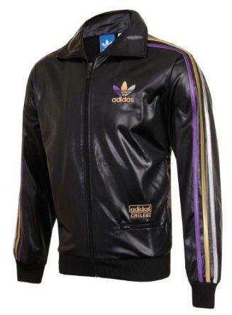 Adidas Originals Chile 62 Trefoil Black Wet Shiny Gloss