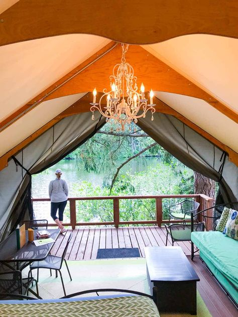Lodges with Northwest Style - clamping at Lakedale resort in western Washington San Juan islands What Is Glamping, Go Glamping, Camping, Backpacking, Washington Things To Do, Lopez Island, Orcas Island, San Juan Islands, Oh The Places You'll Go