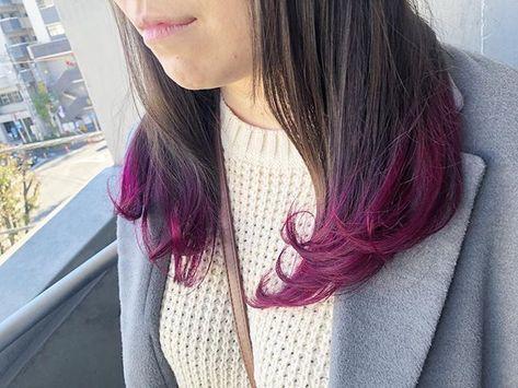 森永大樹さんはinstagramを利用しています 裾カラー 毛先ピンク