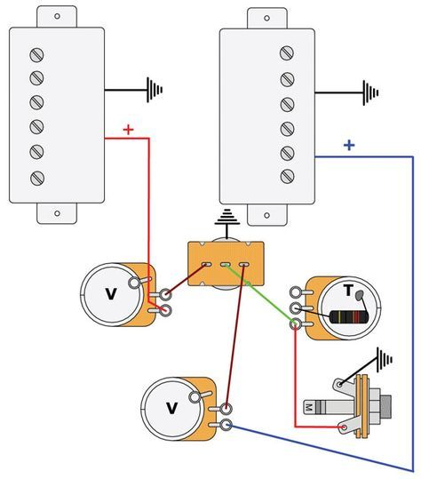 premier guitar wiring diagram mod garage les paul master wiring 2 guitar pickups  guitar diy  mod garage les paul master wiring 2