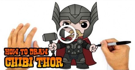 How To Draw Thor The Avengers Drawing With Images Avengers Drawings Chibi Spiderman