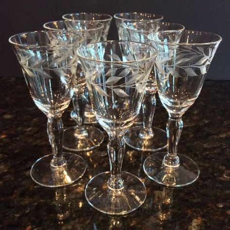 VINTAGE SET OF 2 LENOX MONTCLAIR WATER GOBLETS GLASSES