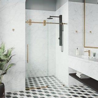 Vigo 68 72 Inch Elan Adjustable Frameless Sliding Shower Door In