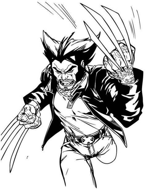 Wolverine Coloring Pages Wolverine Cartoon Wolverine Xmen Art