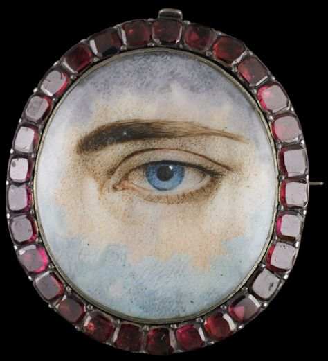 Silver bracelet clasp converted into brooch. Collection of Dr. and Mrs. David Skier. #lookoflove #eyeminiatures #loverseye