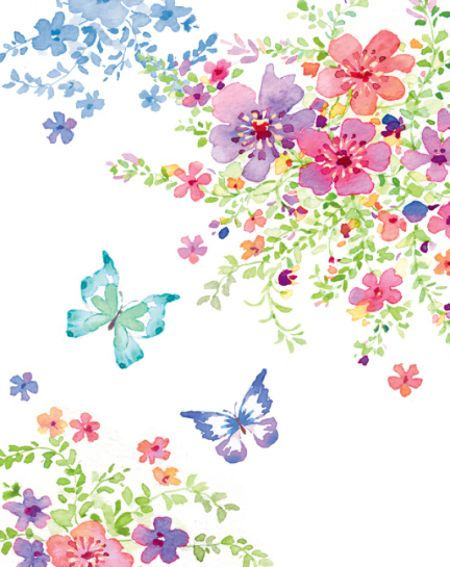 Liz Yee - Butterfly With Floral 3